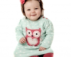 Baby in an Owl Jumper