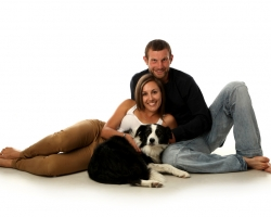 Photo of a Couple With a Dog