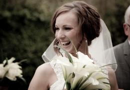 A Bride Smiling