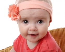 Baby with a Pink Headband