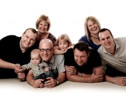 Colour Photograph of a Family