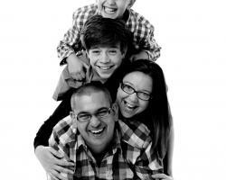 Horizontal Photograph of a Family